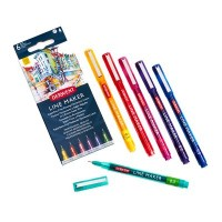 Derwent Line Maker Coloured Pens Set of 6