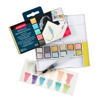 Derwent Metallic Paint 12 Pan Set