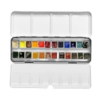 Daniel Smith 24 Colour Half Pan Watercolour Metal Tin Set