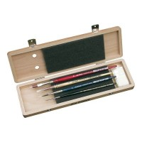 da Vinci Watercolour Brush Set in Light Wooden Box