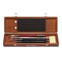 da Vinci Watercolour Brush Set in Dark Wooden Box