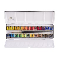 Rembrandt Watercolour 24 Half Pan Metal Tin Set