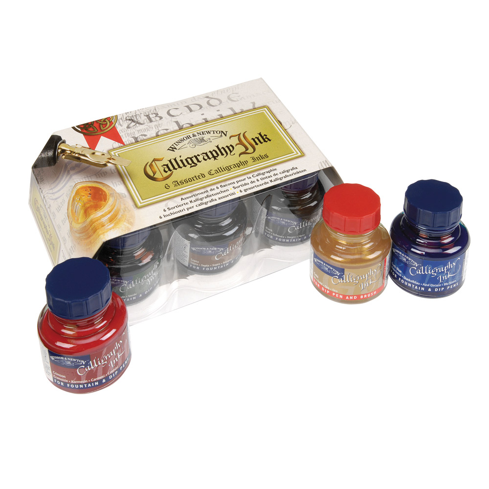 Winsor Newton 6 Assorted Calligraphy Ink Set Ken