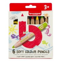 Bruynzeel Soft Colouring Pencils Set of 6