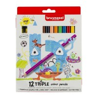Bruynzeel Triple Colour Pencils Set of 12