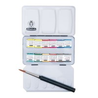 Schmincke Horadam Aquarell Artists 12 Small Pan & Brush Set