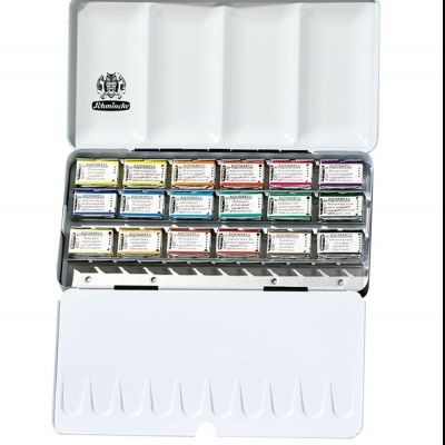 Schmincke Horadam Aquarell Artists 18 Large Pan Set