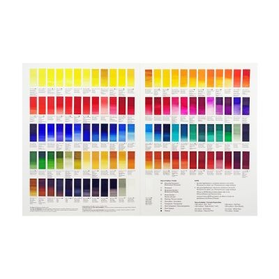 W&N Professional Watercolour Hand Painted Colour Chart