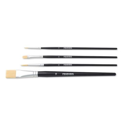 Reeves Set of 4 Short Handled Acrylic Brushes