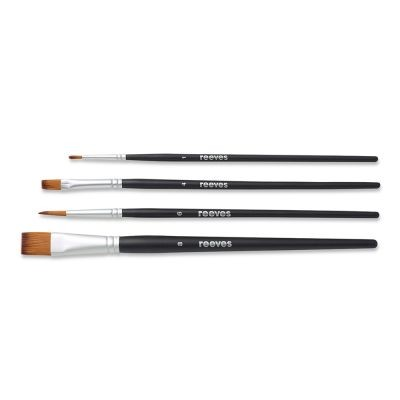 Reeves Set of 4 Short Handled Watercolour Brushes