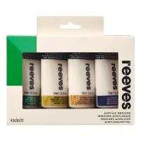 Reeves Acrylic Additives Set of 4