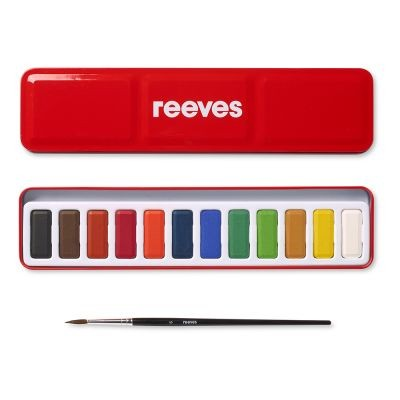 Reeves Watercolour Tin Set of 12 Pans