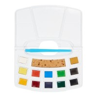 Talens Art Creation 12 Half Pan Watercolour Pocket Box