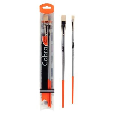 Cobra Water Mixable Oil Colour Brush Set of 2