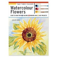 Take Three Colours Watercolour Flowers by Julie King