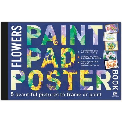 Paint Pad Poster Book - Flowers
