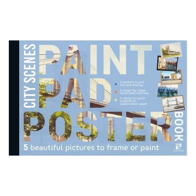 Paint Pad Poster Book - City Scenes