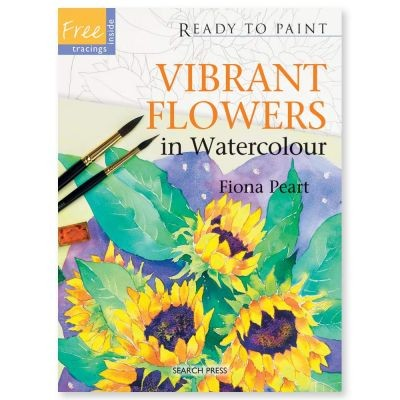 Ready to Paint Vibrant Flowers in Watercolour by Fiona Peart