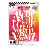 Carabelle Studio Art Printing Texture Plate A to Z Lettering