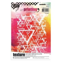 Carabelle Studio Art Printing Texture Plate with Triangles