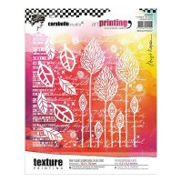 Carabelle Studio Art Printing Texture Plate Abstract Flowers