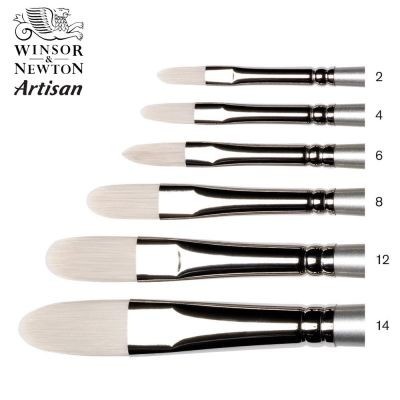 Artisan Brushes - Filbert Long Handle