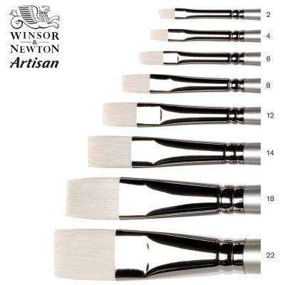 Artisan Brushes - Short Flat Long Handle