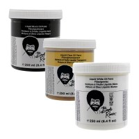 Bob Ross Base Coats (Liquid White,Clear,Black)