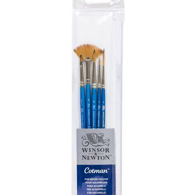 Cotman Brush Set (5 Brushes with Fan) Version 1