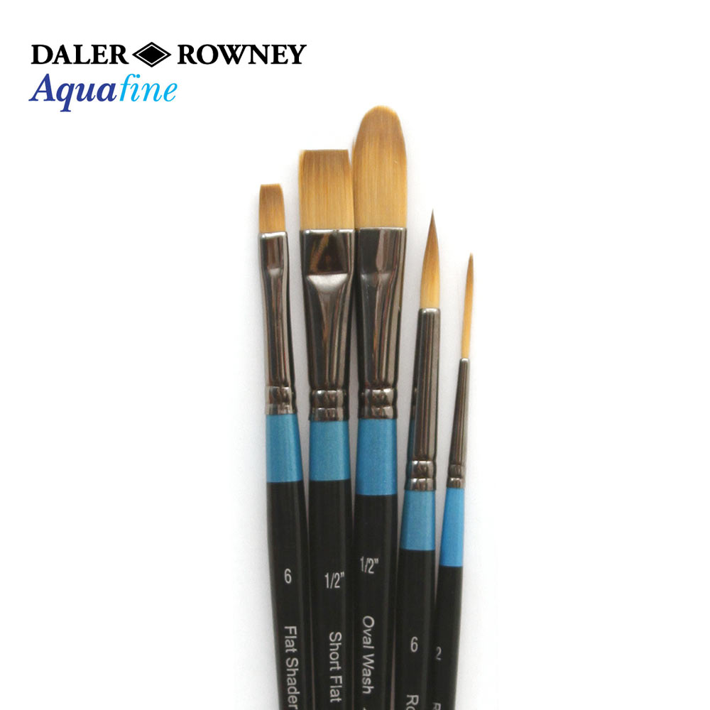 Daler Rowney Aquafine Classic Zip Case 10 Artists Watercolour Brushes