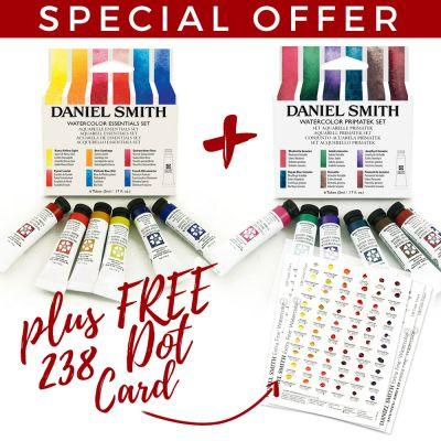 Daniel Smith Essentials and Primatek Sets and FREE DOT CARD