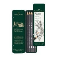 Faber-Castell Graphite Aquarelle Pencils Tin of 5