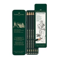 Faber-Castell Castell 9000 Graphite Pencil Tin Sets