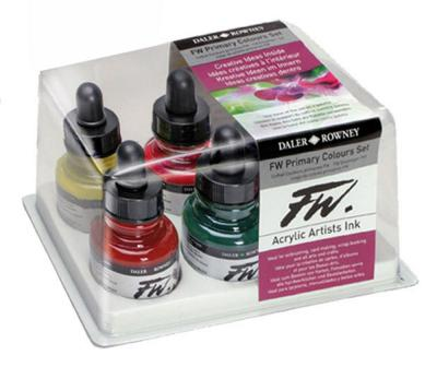 Daler Rowney FW Ink Primary Colour Set