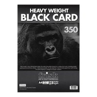 Frisk 350gsm Black Card Pads