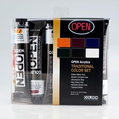 Golden Open Acrylic Intro Set 6 x 22ml Traditional Colours