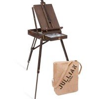 Jullian Vintage Oak French Easel with carry bag