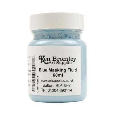 Ken Bromley Art Supplies Blue Masking Fluid