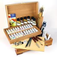 Winsor & Newton Knightsbridge Oil Painting Wooden Box Set