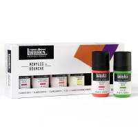 Liquitex Acrylic Gouache Fluorescents Set 6x 59ml