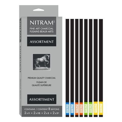 Nitram Assorted Box of 8 Stylus Charcoal Refills
