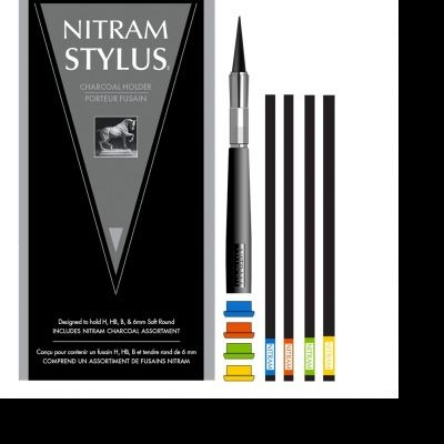 Nitram Stylus Charcoal Holder Set with 4 Sticks