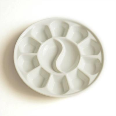 Porcelain Circular Palette with 12 wells