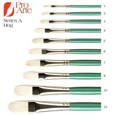 Series A Hog Brush Filbert Oil Painting Brush