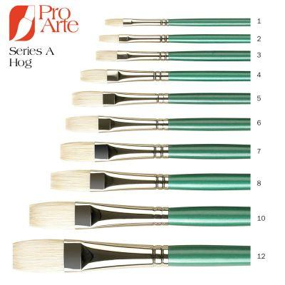 Series A Hog Long Flat Oil Brush