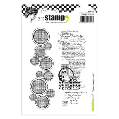 Carabelle Studio Cling Stamp Circles and Text