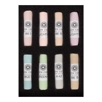 Unison Soft Pastel Light Colours Set of 8