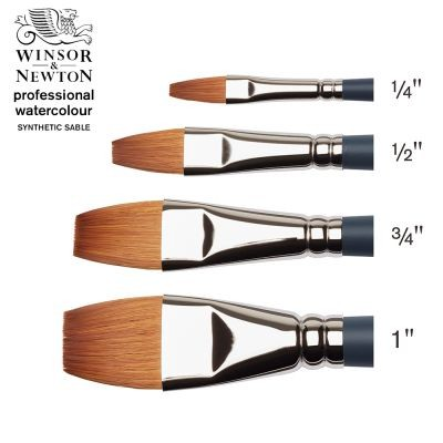 Professional Watercolour Synthetic Sable One Stroke Brush