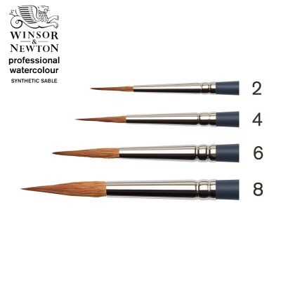 Professional Watercolour Synthetic Sable Pointed Round