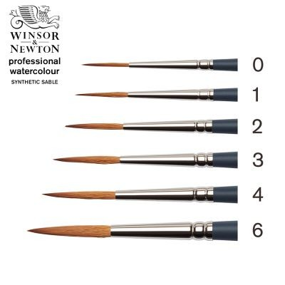 Professional Watercolour Synthetic Sable Rigger Brush